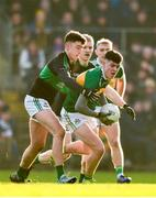 1 December 2019; Seán O'Connor of Clonmel Commercials in action against Brian Murphy of Nemo Rangers during the AIB Munster GAA Football Senior Club Championship Final match between Nemo Rangers and Clonmel Commercials at Fraher Field in Dungarvan, Waterford. Photo by Eóin Noonan/Sportsfile