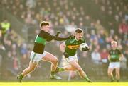 1 December 2019; Michael Quinlivan of Clonmel Commercials in action against Brian Murphy of Nemo Rangers during the AIB Munster GAA Football Senior Club Championship Final match between Nemo Rangers and Clonmel Commercials at Fraher Field in Dungarvan, Waterford. Photo by Eóin Noonan/Sportsfile