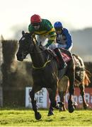 1 December 2019; Killer Miller, with Sean Flanagan up, on their way to winning the 1800 624 524 Telebetting BARONERACING Porterstown Handicap Steeplechase on Day 2 of the Fairyhouse Winter Festival at Fairyhouse Racecourse in Meath. Photo by Harry Murphy/Sportsfile