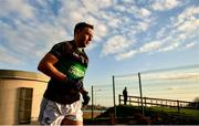 1 December 2019; Paul Kerrigan of Nemo Rangers makes his way out to the pitch to make his 100th club championship appearance during the AIB Munster GAA Football Senior Club Championship Final match between Nemo Rangers and Clonmel Commercials at Fraher Field in Dungarvan, Waterford. Photo by Eóin Noonan/Sportsfile