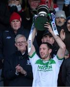 1 December 2019; Ballyhale Shamrocks captain Michael Fennelly lifts the cup after the AIB Leinster GAA Hurling Senior Club Championship Final match between Ballyhale Shamrocks and St Mullin's at MW Hire O'Moore Park in Portlaoise, Co Laois. Photo by Piaras Ó Mídheach/Sportsfile