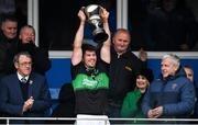 1 December 2019; Barry O'Driscoll of Nemo Rangers lifting the cup following the AIB Munster GAA Football Senior Club Championship Final match between Nemo Rangers and Clonmel Commercials at Fraher Field in Dungarvan, Waterford. Photo by Eóin Noonan/Sportsfile