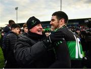 1 December 2019; Luke Connolly of Nemo Rangers celebrates with Nemo Rangers selector Billy Morgan following the AIB Munster GAA Football Senior Club Championship Final match between Nemo Rangers and Clonmel Commercials at Fraher Field in Dungarvan, Waterford. Photo by Eóin Noonan/Sportsfile