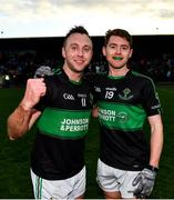 1 December 2019; Paul Kerrigan, left, and Ciaran Dalton of Nemo Rangers following the AIB Munster GAA Football Senior Club Championship Final match between Nemo Rangers and Clonmel Commercials at Fraher Field in Dungarvan, Waterford. Photo by Eóin Noonan/Sportsfile