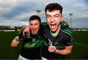 1 December 2019; Mark Cronin, left, and Brian Murphy of Nemo Rangers following the AIB Munster GAA Football Senior Club Championship Final match between Nemo Rangers and Clonmel Commercials at Fraher Field in Dungarvan, Waterford. Photo by Eóin Noonan/Sportsfile