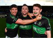 1 December 2019; Barry O'Driscoll, left, Paul Kerrigan, centre, and Ciaran Dalton of Nemo Rangers following the AIB Munster GAA Football Senior Club Championship Final match between Nemo Rangers and Clonmel Commercials at Fraher Field in Dungarvan, Waterford. Photo by Eóin Noonan/Sportsfile