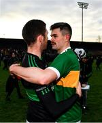 1 December 2019; Luke Connolly of Nemo Rangers with Michael Quinlivan of Clonmel Commercials following the AIB Munster GAA Football Senior Club Championship Final match between Nemo Rangers and Clonmel Commercials at Fraher Field in Dungarvan, Waterford. Photo by Eóin Noonan/Sportsfile