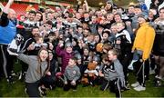 1 December 2019; Kilcoo players celebrate with the Seamus McFerran Cup after the AIB Ulster GAA Football Senior Club Championship Final match between Kilcoo and Naomh Conaill at Healy Park in Omagh, Tyrone. Photo by Oliver McVeigh/Sportsfile