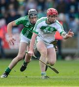 1 December 2019; Adrian Mullen of Ballyhale Shamrocks in action against Michael Walsh of St Mullin's during the AIB Leinster GAA Hurling Senior Club Championship Final match between Ballyhale Shamrocks and St Mullin's at MW Hire O'Moore Park in Portlaoise, Co Laois. Photo by Piaras Ó Mídheach/Sportsfile