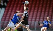 1 December 2019; Charles McGuinness of Naomh Conaill in action against Ryan McEvoy of Kilcoo during the AIB Ulster GAA Football Senior Club Championship Final match between Kilcoo and Naomh Conaill at Healy Park in Omagh, Tyrone. Photo by Oliver McVeigh/Sportsfile