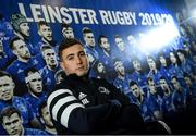 2 December 2019; Jordan Larmour poses for a portrait ahead of a Leinster Rugby press conference at Leinster Rugby Headquarters in UCD, Dublin. Photo by Ramsey Cardy/Sportsfile