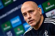 2 December 2019; Backs coach Felipe Contepomi during a Leinster Rugby press conference at Leinster Rugby Headquarters in UCD, Dublin. Photo by Ramsey Cardy/Sportsfile