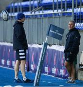 2 December 2019; Head coach Leo Cullen, left, in conversation with Senior coach Stuart Lancaster during Leinster Rugby squad training at Energia Park in Donnybrook, Dublin. Photo by Ramsey Cardy/Sportsfile