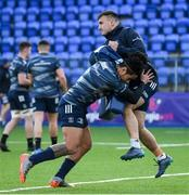 2 December 2019; Joe Tomane, left, and Rónan Kelleher during Leinster Rugby squad training at Energia Park in Donnybrook, Dublin. Photo by Ramsey Cardy/Sportsfile