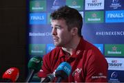 3 December 2019; Peter O'Mahony during a Munster Rugby Press Conference at University of Limerick in Limerick. Photo by Matt Browne/Sportsfile