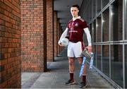 4 December 2019; Kieran Molloy of NUIG poses for a portrait with the Sigerson Cup during the Electric Ireland Higher Education GAA Championships Launch and Draw at DCU, Dublin. Photo by Sam Barnes/Sportsfile