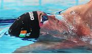 5 December 2019; Shane Ryan of Ireland competes in the heats of the Men's 100m Backstroke during Day Two of the European Short Course Swimming Championships 2019 at Tollcross International Swimming Centre in Glasgow, Scotland. Photo by Joseph Kleindl/Sportsfile
