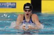 5 December 2019; Molly Mayne of Ireland competes in the heats of the Women's 100m IM during Day Two of the European Short Course Swimming Championships 2019 at Tollcross International Swimming Centre in Glasgow, Scotland. Photo by Joseph Kleindl/Sportsfile