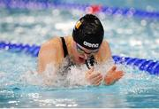5 December 2019; Mona McSharry of Ireland competes in the heats of the Women's 100m IM during Day Two of the European Short Course Swimming Championships 2019 at Tollcross International Swimming Centre in Glasgow, Scotland. Photo by Joseph Kleindl/Sportsfile