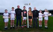 5 December 2019; In attendance at the official announcement of UPMC's ten-year naming right partnership with Kilkenny GAA that sees the home of Kilkenny GAA renamed UPMC Nowlan Park, are, from left, Bill Trehy, aged 11, Jeff Tyrrell, aged 12, Kilkenny Senior hurling manager Brian Cody, Kilkenny hurler Eoin Murphy, Kilkenny camogie player Katie Power, David Beirne, Nine times All-Ireland hurling medal winner for Kilkenny Noel Skehan, Ruth Nelson, aged 12, and Holly Kinchella, aged 12. This announcement complements UPMC's association with the GAA / GPA as official healthcare partner to Gaelic players, the established National Concussion Symposium and the UPMC Concussion Network, the first nationwide network established for concussion diagnosis and care. UPMC is the main sponsor of the Waterford IT Vikings GAA Club and headline sponsor of the 2020 UPMC Ashbourne Cup Weekend. Photo by Sam Barnes/Sportsfile