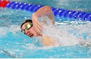 5 December 2019; Daniel Wiffen of Ireland competes in the heats of the Men's 1500m Freestyle during Day Two of the European Short Course Swimming Championships 2019 at Tollcross International Swimming Centre in Glasgow, Scotland. Photo by Joseph Kleindl/Sportsfile