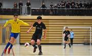 5 December 2019; Eoghan Murphy of St. Franics College, Rochestown, Co Cork in action against Paul Galvin of St. Mary's Diocesan School, Drogheda, Co Louth during the match between St. Francis College and St Mary's Diocesan School at the FAI Post Primary Schools Futsal National Finals in the WIT Arena, Waterford. Photo by David Fitzgerald/Sportsfile