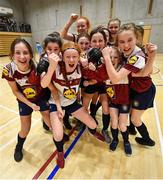 5 December 2019; Players of Presentation Secondary School, Thurles, Co Tipperary celebrate following the match between Scoil Mhuire SS Buncrana and Presentation SS Thurles at the FAI Post Primary Schools Futsal National Finals in the WIT Arena, Waterford. Photo by David Fitzgerald/Sportsfile