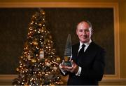 5 December 2019; Former Dublin football Manager Jim Gavin with his award after being named the Signify Sports Manager of the Year 2019 during the Signify Sports Manager of the Year Awards 2019 at The Intercontinental Hotel in Ballsbridge, Dublin. Photo by Harry Murphy/Sportsfile
