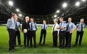 5 December 2019; Republic of Ireland Manager Mick McCarthy with members of An Garda Síochána at the launch of the 2019 Dublin South Central Garda Youth Awards, in association with Aviva. The awards celebrate outstanding young people aged between 13 and 21 years of age and recognise the good work being done by young people throughout the communities of Dublin South Central. See garda.ie for further details. Photo by Eóin Noonan/Sportsfile
