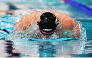 6 December 2019; Brendan Hyland of Ireland competes in the heats of the Men's 200m Individual Medley during day three of the European Short Course Swimming Championships 2019 at Tollcross International Swimming Centre in Glasgow, Scotland. Photo by Joseph Kleindl/Sportsfile