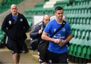 7 December 2019; Jonathan Sexton of Leinster arrives before the Heineken Champions Cup Pool 1 Round 3 match between Northampton Saints and Leinster at Franklins Gardens in Northampton, England. Photo by Ramsey Cardy/Sportsfile