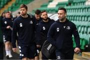 7 December 2019; Dave Kearney of Leinster, right, arrives before the Heineken Champions Cup Pool 1 Round 3 match between Northampton Saints and Leinster at Franklins Gardens in Northampton, England. Photo by Ramsey Cardy/Sportsfile