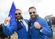 7 December 2019; Leinster supporters Jimmy Barnes, left, and Alex Brennan before the Heineken Champions Cup Pool 1 Round 3 match between Northampton Saints and Leinster at Franklins Gardens in Northampton, England. Photo by Ramsey Cardy/Sportsfile
