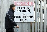 7 December 2019; Kildare manager Jack O'Connor arrives for the 2020 O'Byrne Cup Round 1 match between Kildare and Longford at St Conleth's Park in Newbridge, Kildare. Photo by Piaras Ó Mídheach/Sportsfile
