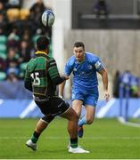 7 December 2019; Jonathan Sexton of Leinster in action against Ahsee Tuala of Northampton Saints during the Heineken Champions Cup Pool 1 Round 3 match between Northampton Saints and Leinster at Franklins Gardens in Northampton, England. Photo by Ramsey Cardy/Sportsfile