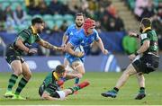 7 December 2019; Josh van der Flier of Leinster in action against Rory Hutchinson of Northampton Saints during the Heineken Champions Cup Pool 1 Round 3 match between Northampton Saints and Leinster at Franklins Gardens in Northampton, England. Photo by Ramsey Cardy/Sportsfile