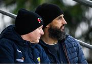 7 December 2019; Wexford manager Paul Galvin, right, with Wexford County Board Vice Chairman Michael Martin during the 2020 O'Byrne Cup Round 1 match between Wexford and Westmeath at St. Patrick's Park in Enniscorthy, Wexford. Photo by Ray McManus/Sportsfile