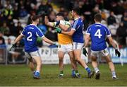 7 December 2019; Bernard Allen of Offaly claims a mark during the 2020 O'Byrne Cup Round 1 match between Laois and Offaly at McCann Park in Portarlington, Co Laois. Photo by Harry Murphy/Sportsfile