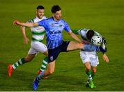17 May 2019; Trevor Clarke of Shamrock Rovers is tackled by Evan Farrell of UCD during the SSE Airtricity League Premier Division match between UCD and Shamrock Rovers at UCD Bowl in Dublin. Photo by Ramsey Cardy/Sportsfile
