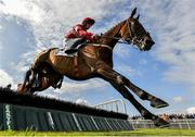 30 July 2019; Fast Buck, with Paul Townend up, jumps the fifth on their way to winning the Colm Quinn BMW Novice Hurdle on Day Two of the Galway Races Summer Festival 2019 in Ballybrit, Galway. Photo by Seb Daly/Sportsfile