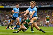1 September 2019; Stephen O'Brien of Kerry has his shot blocked by Michael Fitzsimons of Dublin during the GAA Football All-Ireland Senior Championship Final match between Dublin and Kerry at Croke Park in Dublin. Photo by Seb Daly/Sportsfile