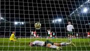 15 October 2019; Shane Duffy of Republic of Ireland reacts after conceding his side's second goal, an own goal, during the UEFA EURO2020 Qualifier match between Switzerland and Republic of Ireland at Stade de Genève in Geneva, Switzerland. Photo by Stephen McCarthy/Sportsfile