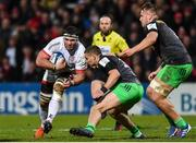 7 December 2019; Marcell Coetzee of Ulster is tackled by James Lang of Harlequins during the Heineken Champions Cup Pool 3 Round 3 match between Ulster and Harlequins at Kingspan Stadium in Belfast. Photo by Oliver McVeigh/Sportsfile