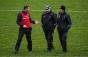 7 December 2019; Kildare manager Jack O'Connor, right, with his selectors Ross Glavin, left, and Tom Cribbin after the 2020 O'Byrne Cup Round 1 match between Kildare and Longford at St Conleth's Park in Newbridge, Kildare. Photo by Piaras Ó Mídheach/Sportsfile