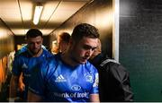 7 December 2019; Jordan Larmour of Leinster ahead of the Heineken Champions Cup Pool 1 Round 3 match between Northampton Saints and Leinster at Franklins Gardens in Northampton, England. Photo by Ramsey Cardy/Sportsfile