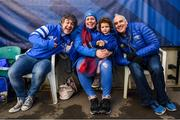 7 December 2019; Leinster supporters Barry, Elaine, Ella and Gerry McHugh during the Heineken Champions Cup Pool 1 Round 3 match between Northampton Saints and Leinster at Franklins Gardens in Northampton, England. Photo by Ramsey Cardy/Sportsfile