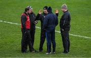 7 December 2019; Kildare manager Jack O'Connor, centre, with his selectors, from left, Ross Glavin, Tom Cribbin, Christy Byrne, and Bryan Murphy after the 2020 O'Byrne Cup Round 1 match between Kildare and Longford at St Conleth's Park in Newbridge, Kildare. Photo by Piaras Ó Mídheach/Sportsfile