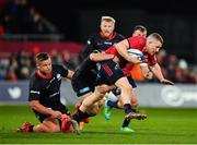 7 December 2019; Andrew Conway of Munster is tackled by Ben Earl of Saracens during the Heineken Champions Cup Pool 4 Round 3 match between Munster and Saracens at Thomond Park in Limerick. Photo by Seb Daly/Sportsfile