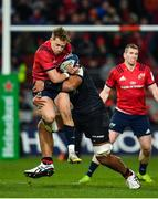 7 December 2019; Mike Haley of Munster is tackled by Will Skelton of Saracens during the Heineken Champions Cup Pool 4 Round 3 match between Munster and Saracens at Thomond Park in Limerick. Photo by Seb Daly/Sportsfile