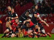 7 December 2019; Maro Itoje of Saracens is tackled by James Cronin of Munster during the Heineken Champions Cup Pool 4 Round 3 match between Munster and Saracens at Thomond Park in Limerick. Photo by Seb Daly/Sportsfile
